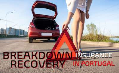 Get a quote for breakdown recovery insurance in Portugal in English